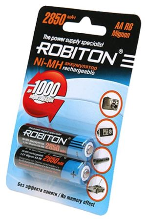 Пальчиковые аккумуляторные батарейки для фотоаппарата Robiton AA 2850 mAh