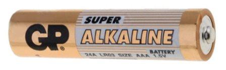 Алкалиновая мизинчиковая батарейка GP LR03/AAA