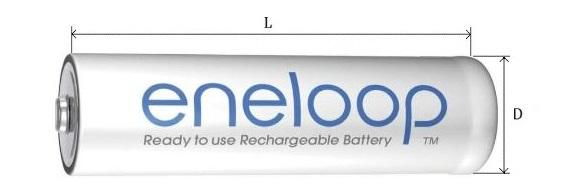 Аккумуляторная батарейка Panasonic Eneloop R6/AA 1900 mAh
