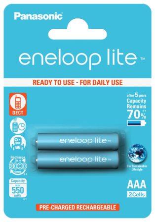 Аккумуляторные батарейки мизинчиковые для радиотелефонов Panasonic AAA Eneloop Lite