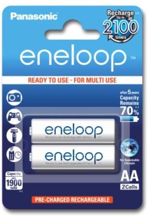 Пальчиковые аккумуляторные батарейки для радиотелефонов Panasonic Eneloop AA 1900 mAh