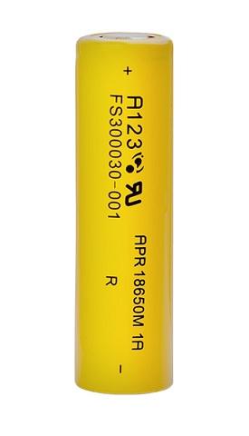 Литий-железо-фосфатная аккумуляторная батарейка A123 System APR 18650