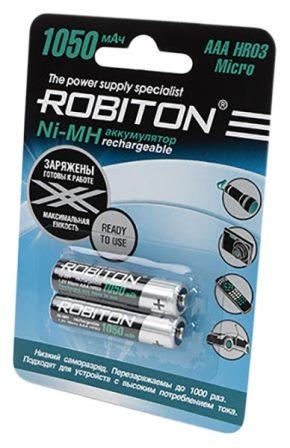 Аккумуляторные батарейки для для пульта радиоуправления Robiton R03 AAA 1050 mAh