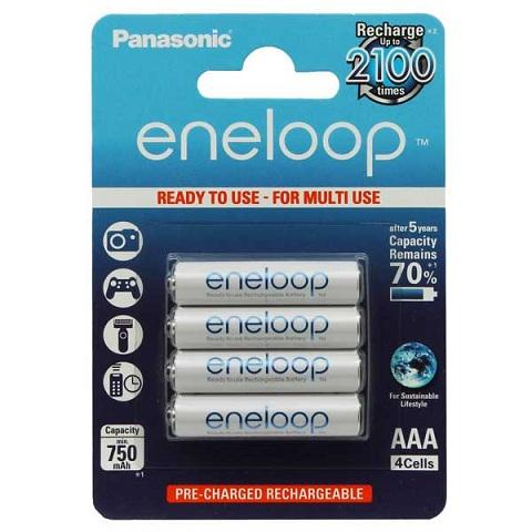 Фото аккумуляторных батареек Panasonic Eneloop 750 mAh R03/ААА