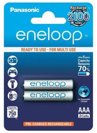ААА аккумуляторные батарейки для пульта телевизора Panasonic Eneloop R03/AAA 750 mAh