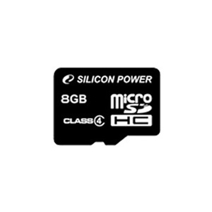карта памяти Silicon Power 8Gb microSDHC Class 4 без адаптера