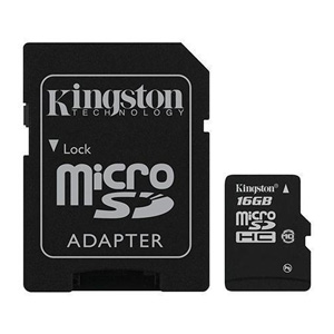 карта памяти Kingston 16Gb microSD Class 10