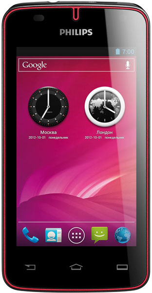 смартфон Philips W536 black/red