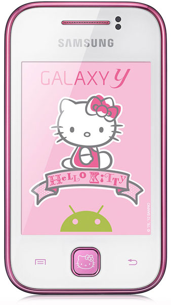 смартфон Samsung GT-S5360 (Galaxy Y) Hello Kitty pure white