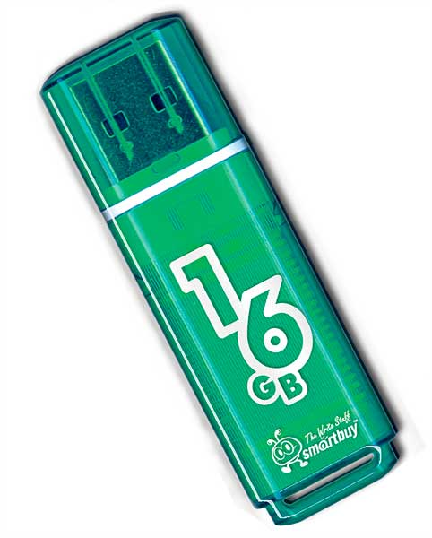 флешка USB SmartBuy Glossy series 16Gb green