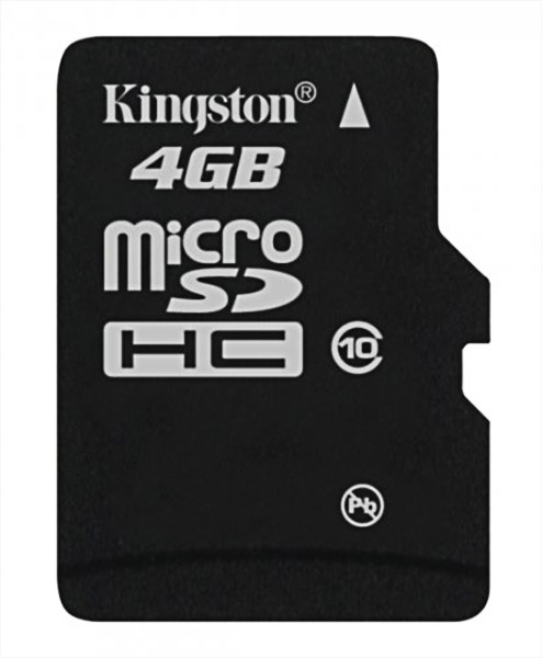 карта памяти Kingston 4Gb microSD Class 10 без адаптера