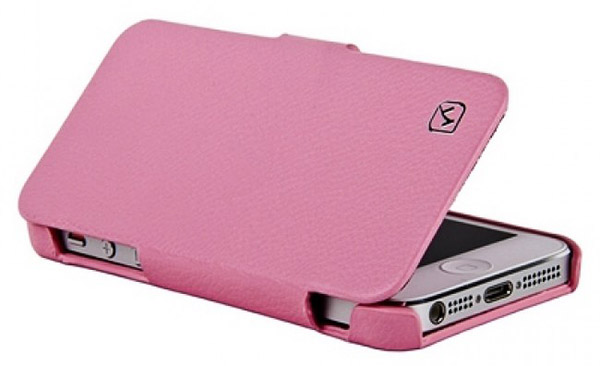 чехол Hoco iPhone 5 Duke folder Leather Case pink