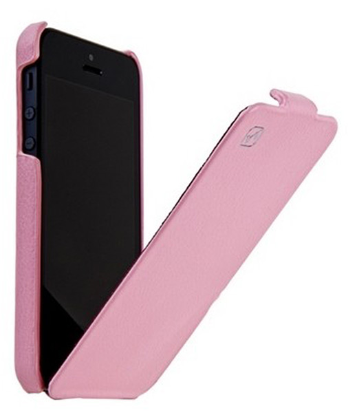 чехол Hoco iPhone 5 Duke Leather Case pink