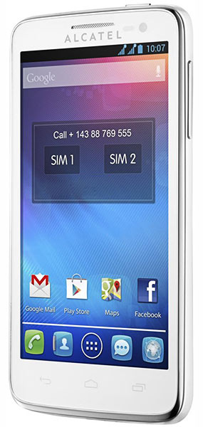 смартфон Alcatel OT5035D X-POP pure white