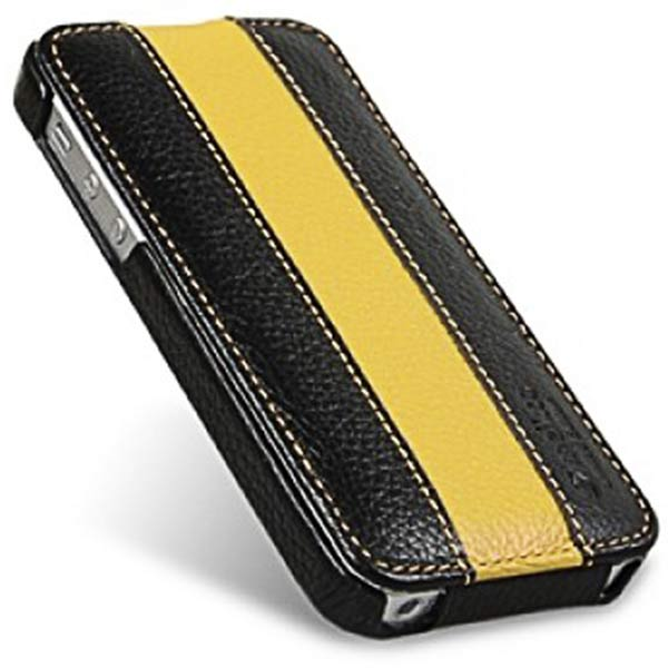 чехол Melkco iPhone 5 Jacka Type black/yellow LC