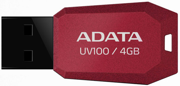 флешка USB A-DATA UV100 4Gb red