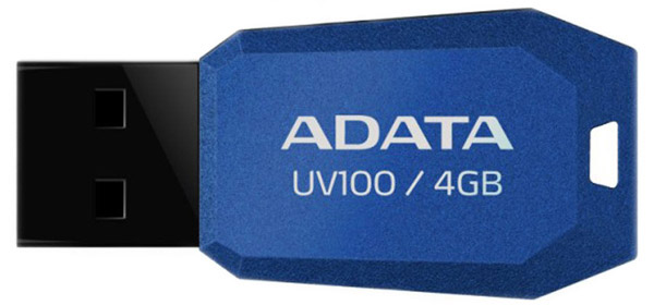 USB флешка A-DATA UV100 4Gb blue