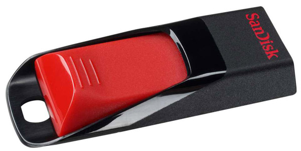 USB флешка SanDisk CZ51 Cruzer Edge 4Gb black/red