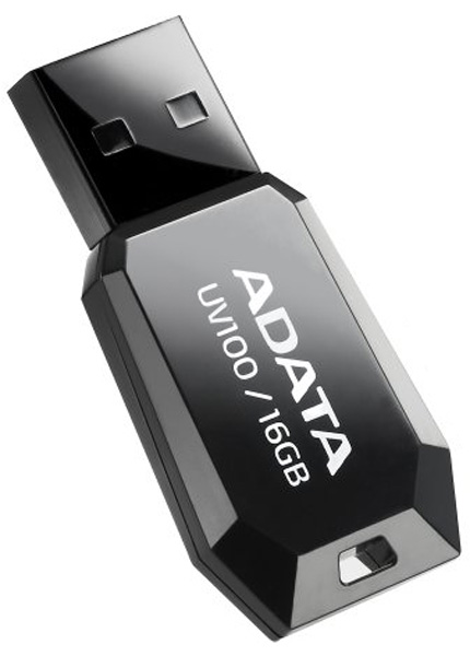 флешка USB A-DATA UV100 16Gb black