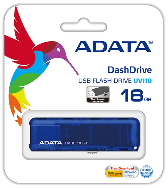USB флешка A-DATA UV110 16Gb blue