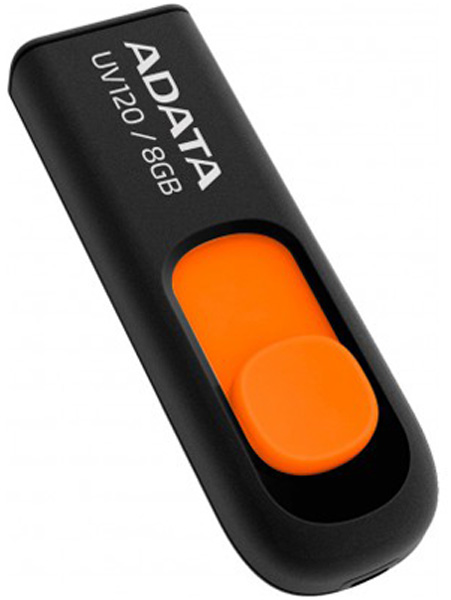флешка USB A-DATA UV120 8Gb black/orange