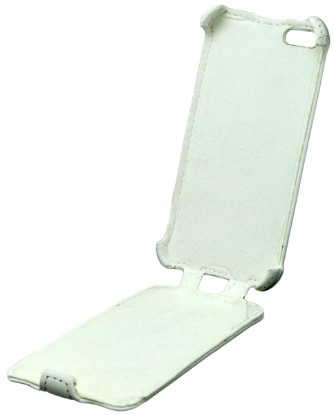чехол iBox Premium iPhone 5 Leather Case white