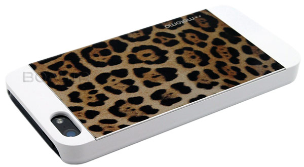 накладка Motomo INO Metal Case IPhone 5 leopard white