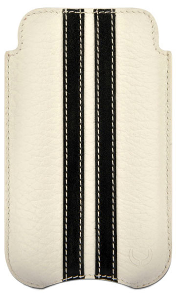 чехол Beyzacases Slimline Stripes iPhone 4 flo  white/black
