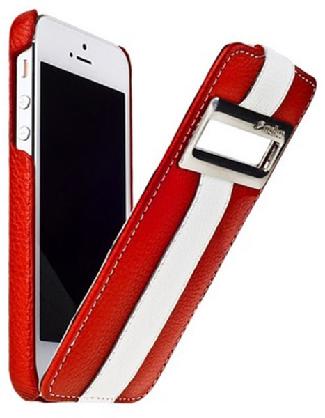 чехол Melkco iPhone 5 Limited Edition ID Jacka Type red/white LC