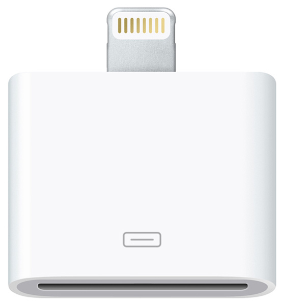 переходник Deppa Apple 30-pin to Lightning white