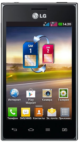 смартфон LG Optimus L5 Dual E615 black