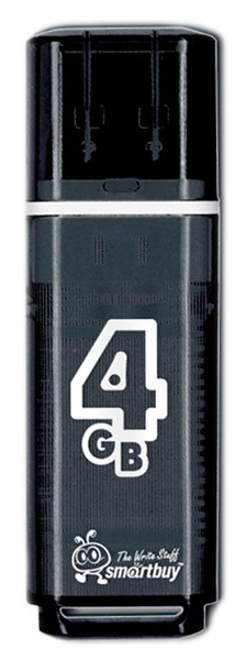 флешка USB SmartBuy Glossy series 4Gb black