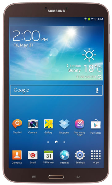 планшетный ПК Samsung SM-T310 (Galaxy Tab 3 8.0 SM-T3100 16Gb) gold brown