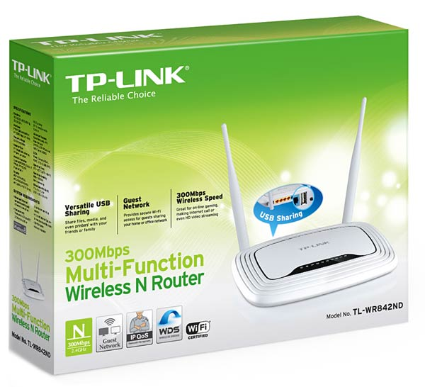 Wi-Fi маршрутизатор TP-LINK TL-WR842ND