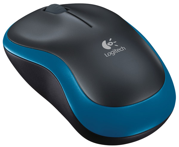 мышь Logitech M185 Wireless Mouse black/blue