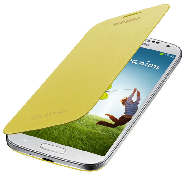 чехол Samsung FlipCover i9500 Galaxy S4 yellow