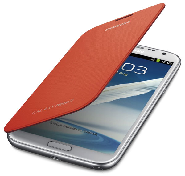 чехол Samsung FlipCover N7100 orange