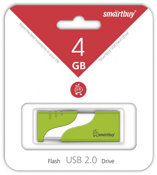 флешка USB SmartBuy Hatch 4Gb green
