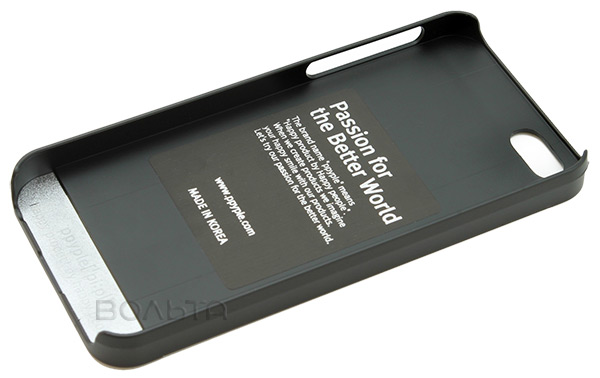 накладка Ppyple Metal Jacket IPhone 5/5S black