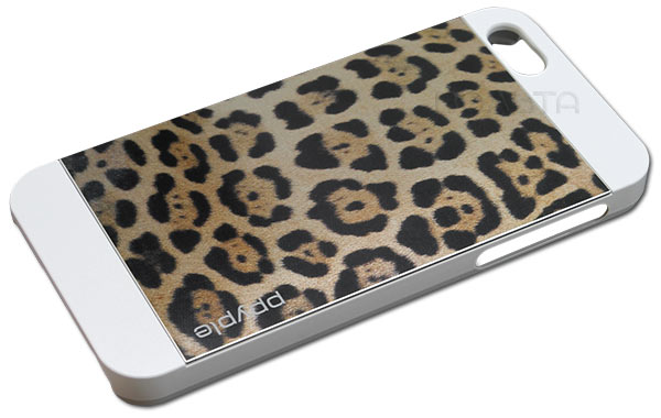 накладка Ppyple Metal Jacket IPhone 5/5S leopard white