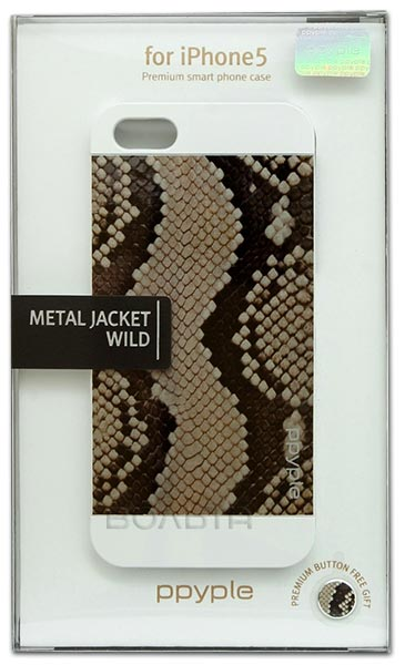 накладка Ppyple Metal Jacket IPhone 5/5S serpent white