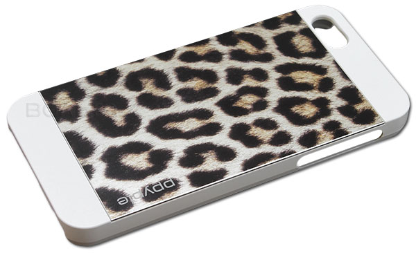 накладка Ppyple Metal Jacket IPhone 5/5S snow leopard white