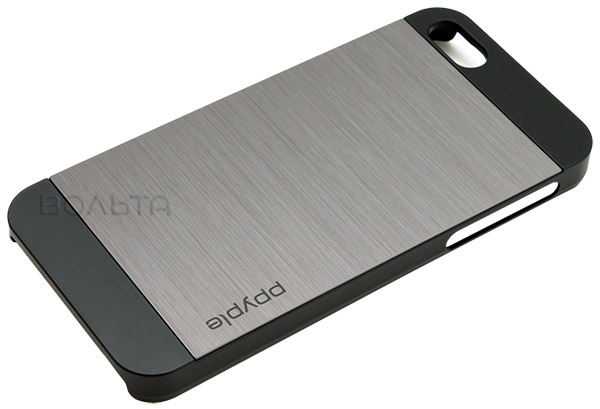 накладка Ppyple Metal Jacket IPhone 5/5S titan silver
