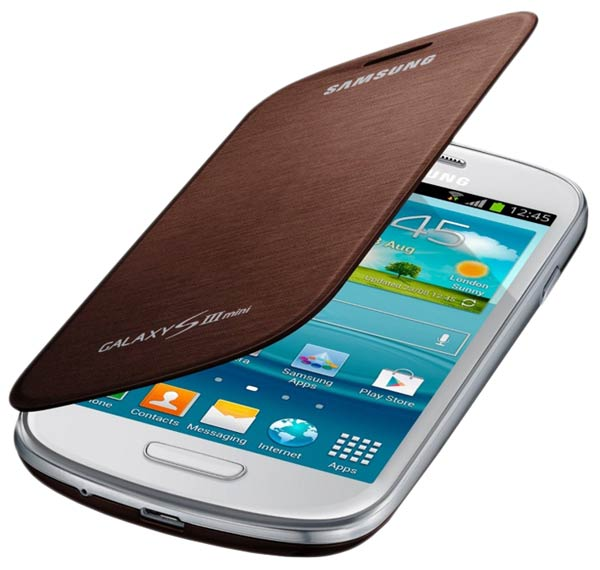 чехол Samsung FlipCover i8190 Galaxy S3 mini brown