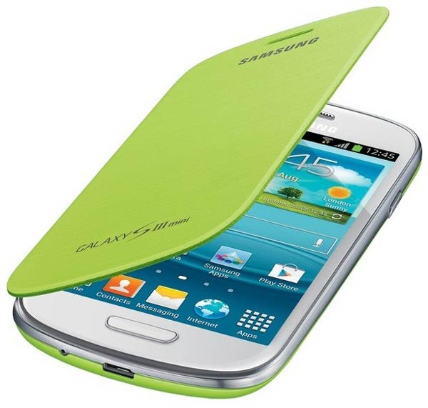 чехол Samsung FlipCover i8190 Galaxy S3 mini green