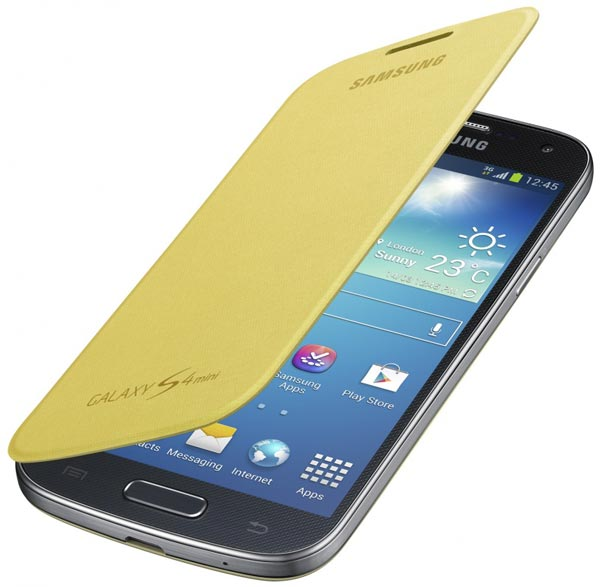 чехол Samsung FlipCover i9192 Galaxy S4 mini Duos yellow