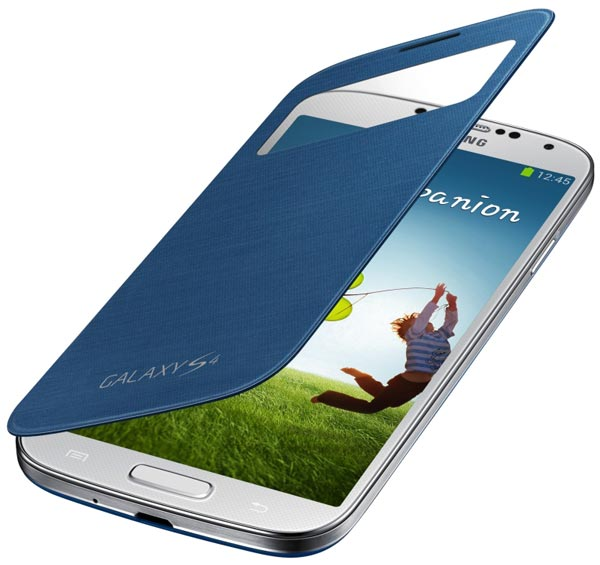 чехол Samsung S-ViewCover i9500 Galaxy S4 blue