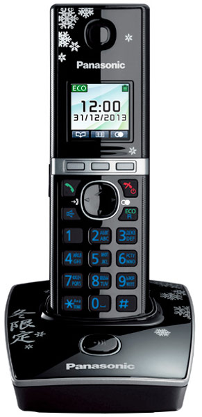 радиотелефон DECT Panasonic KX-TG8051RU black/snow
