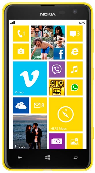 смартфон Nokia Lumia 625 yellow