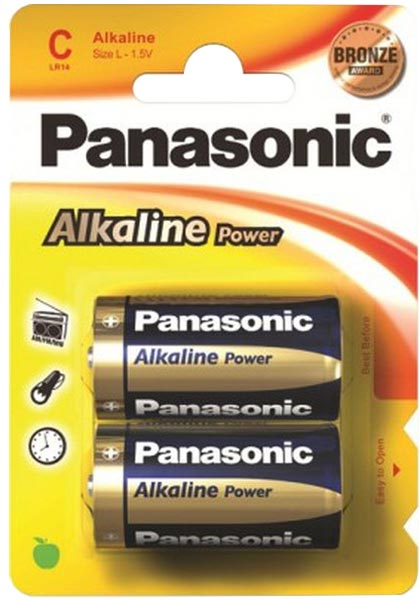 батарейки Panasonic LR14/C Alkaline Power-2BL